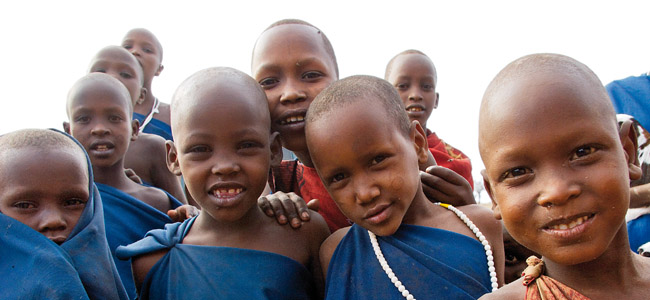 Some of the children in Lerumo